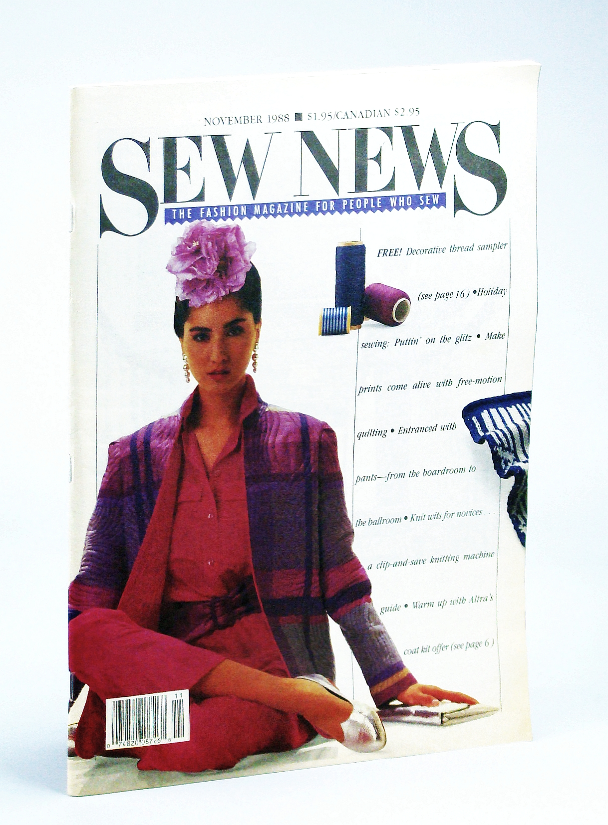 Image for Sew News Magazine - The Fashion Magazine for People Who Sew, November [Nov.] 1988