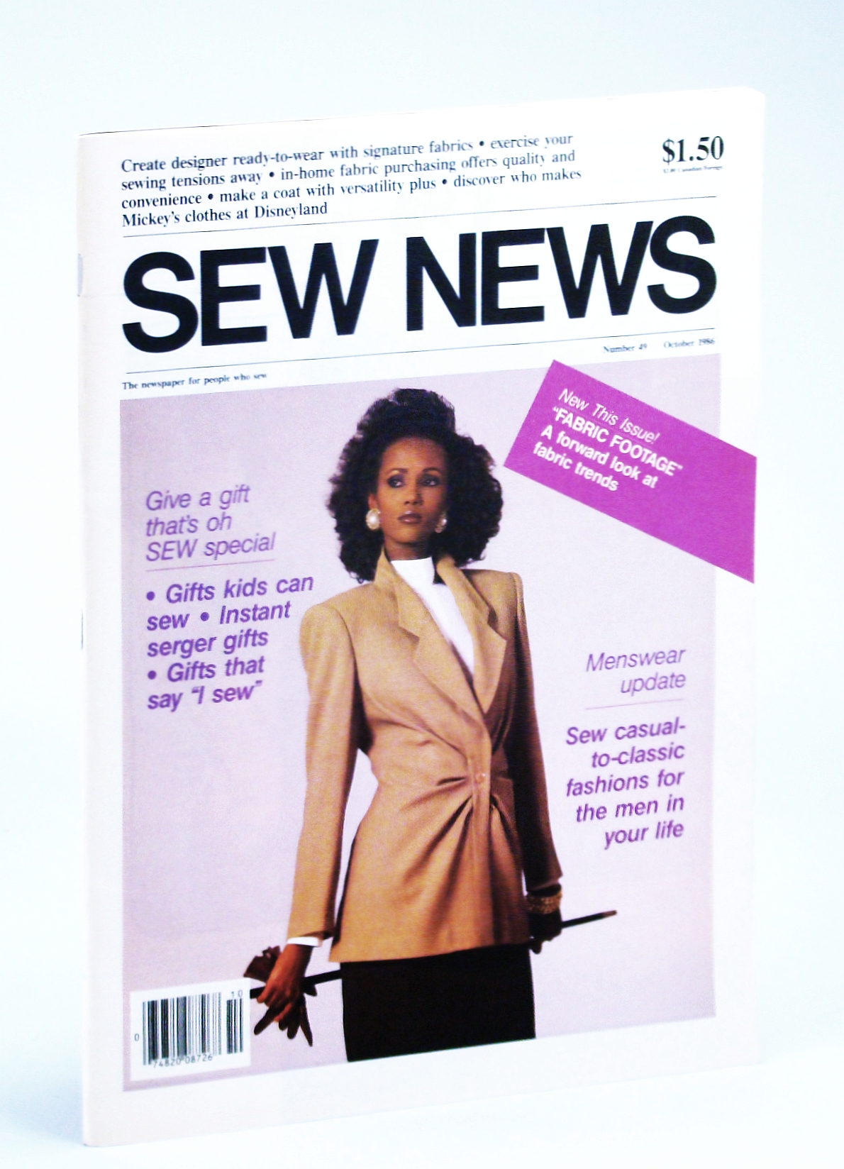 Image for Sew News Magazine - The Fashion Magazine for People Who Sew, Number 49, October [Oct.], 1986 - Sew Casual-to-Classic Fashions for the Men in Your Life