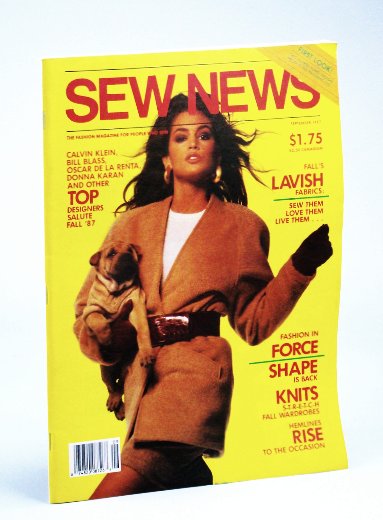 Image for Sew News - The Fashion Magazine For People Who Sew, Number 60, September [Sept.] 1987 - Cindy Crawford Cover Photo