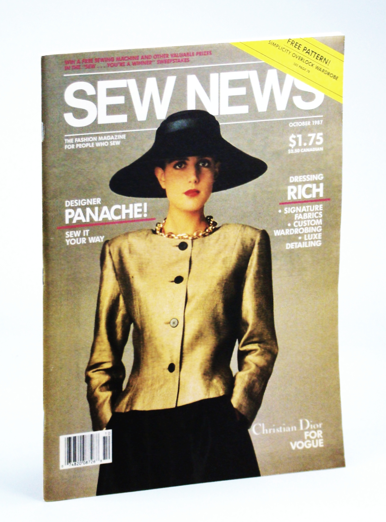 Image for Sew News - The Fashion Magazine For People Who Sew, Number 61, October [Oct.] 1987 - Designer Panache!