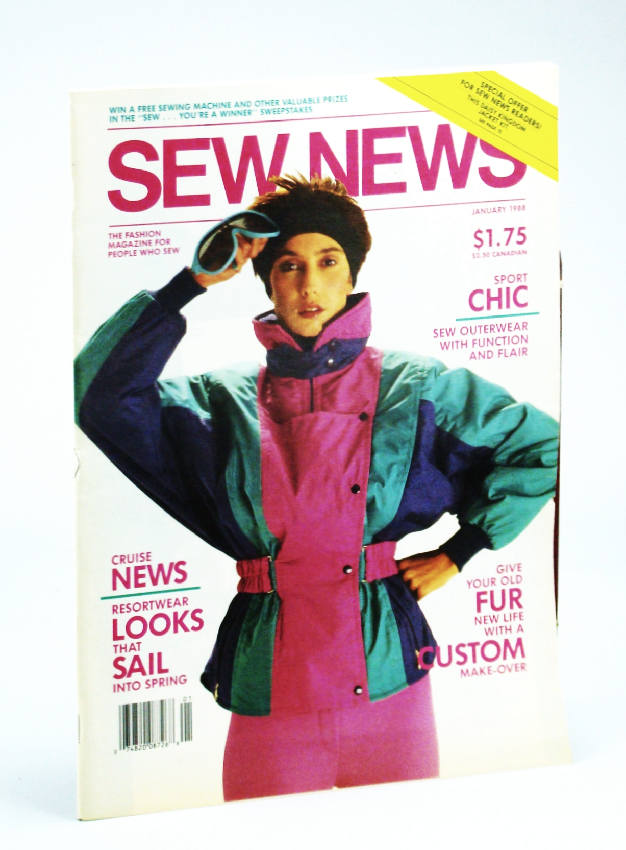 Image for Sew News - The Fashion Magazine For People Who Sew, Number 64, January [Jan], 1988 - Kerstin Martensson Interview