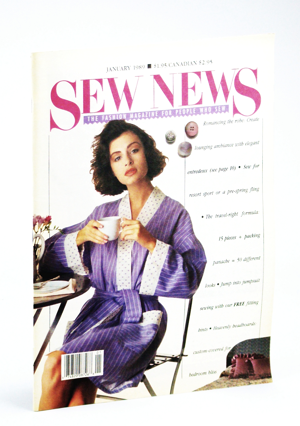 Image for Sew News - The Fashion Magazine For People Who Sew, Number 76, January [Jan.] 1989 -  The (Linda) MacPhee Difference