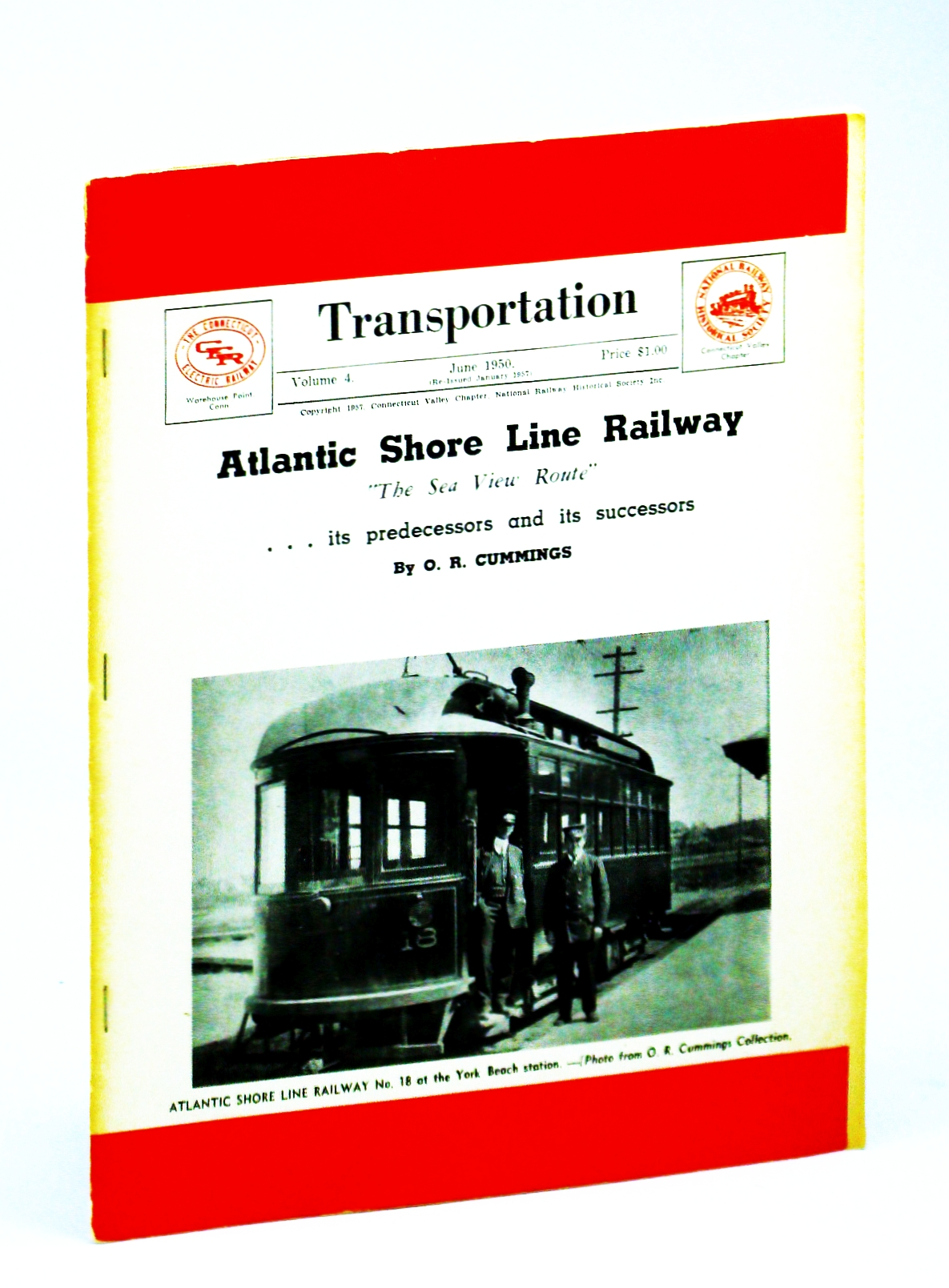 "Image for Transportation [Magazine], Volume 4, June 1950 - Atlantic Shore Line Railway, ""The Sea View Route"""
