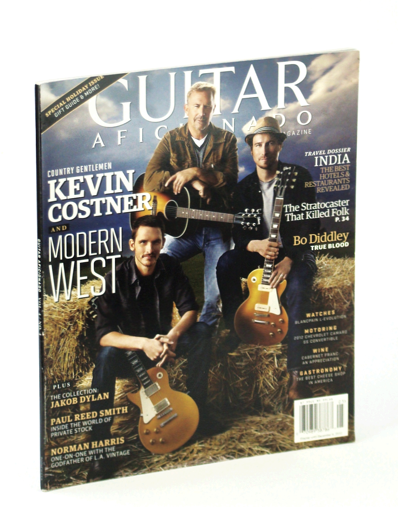 Image for Guitar Aficionado Magazine, October [Oct.] - November [Nov.] 2012, Vol 4, No. 4 - Kevin Costner and Modern West