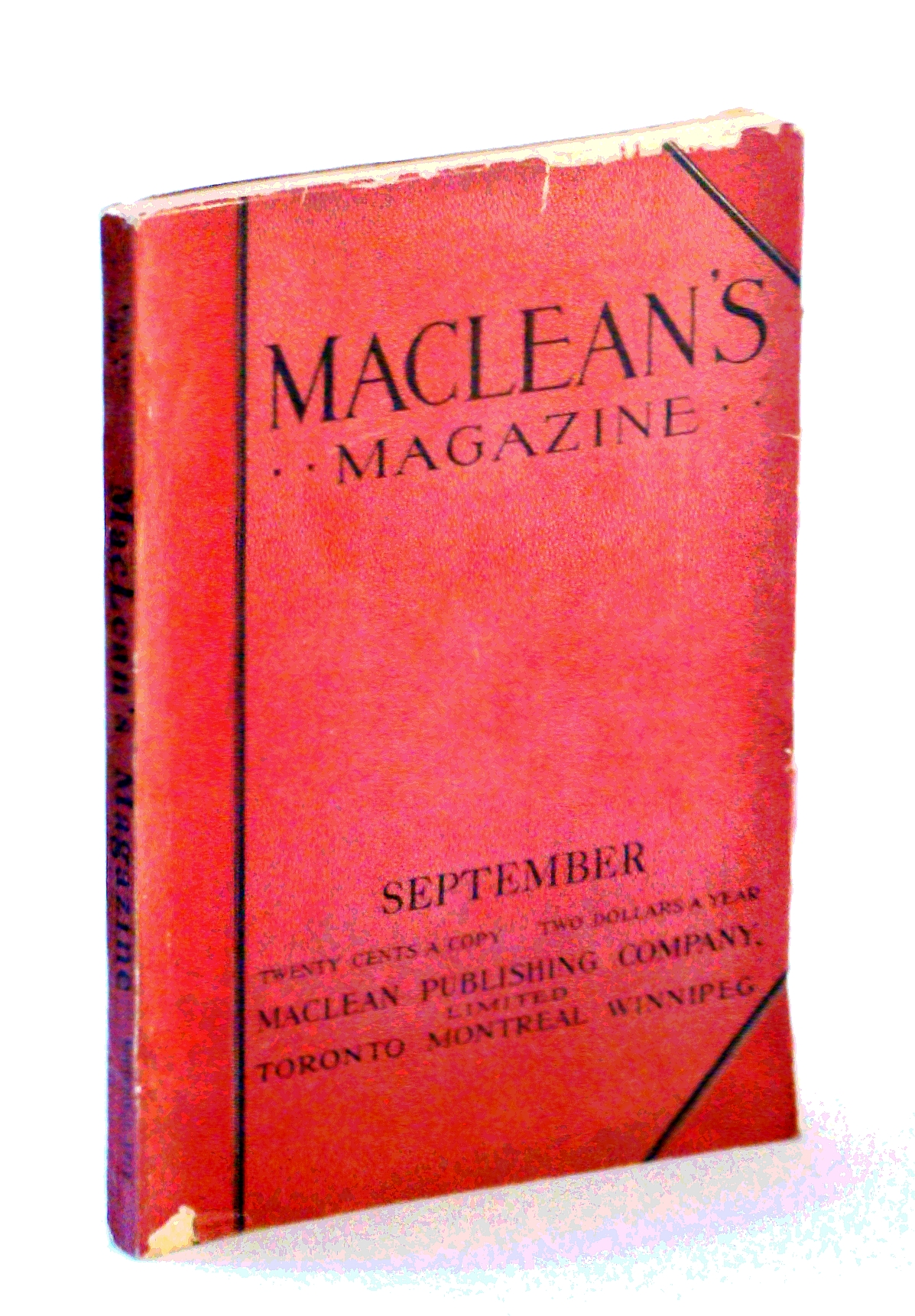 Image for Maclean's Magazine, September [Sept.] 1912, Vol. XXIV, No. 5 - The Frog in Canadian Diet