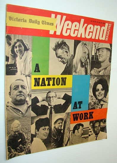 Image for Weekend Magazine, Vol. 19, No. 35 - August 30, 1969 - A Nation At Work