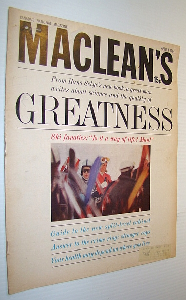Image for Maclean's, Canada's National Magazine, April 4, 1964 - A Weekend with the Ski Fanatics