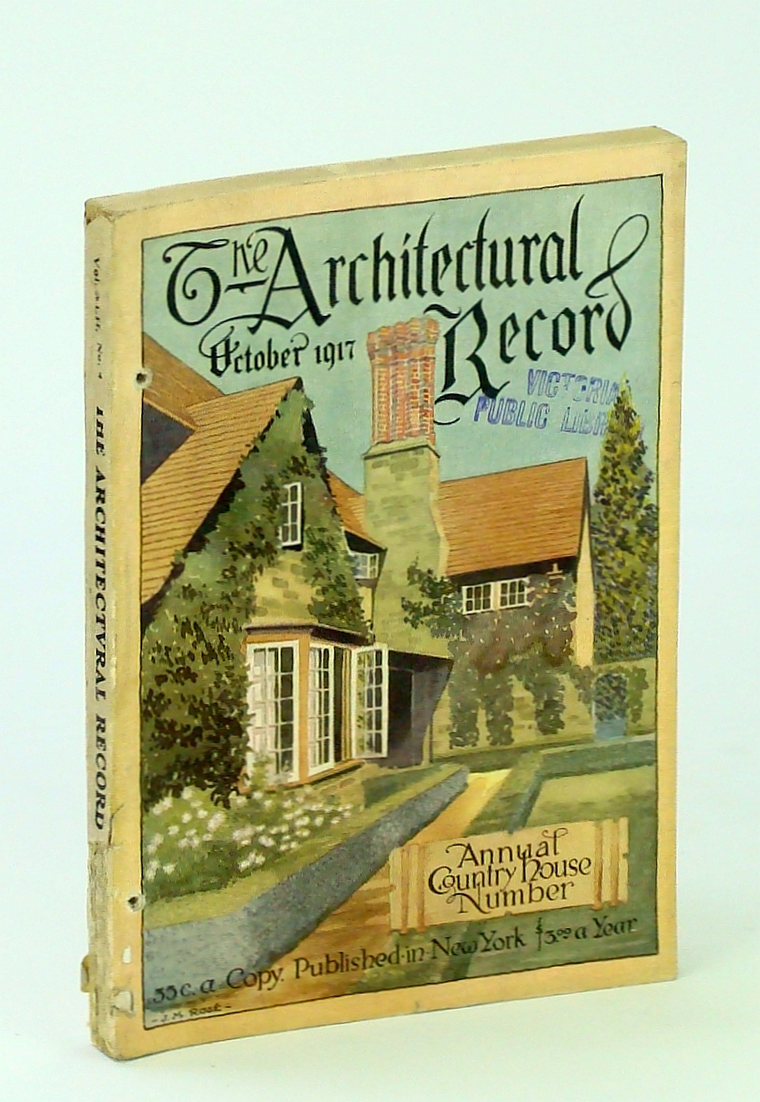 Image for The Architectural Record, October [Oct.] 1917, Vol. XLII, No. 4, Serial No. 229: Special American Country House Issue