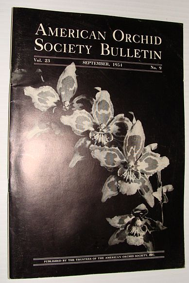Image for American Orchid Society Bulletin Vol. 23 September, 1954 No. 9