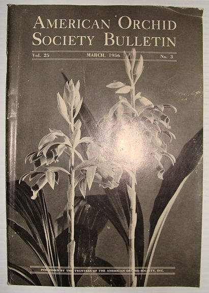 Image for American Orchid Society Bulletin Vol. 25 March, 1956 No. 3