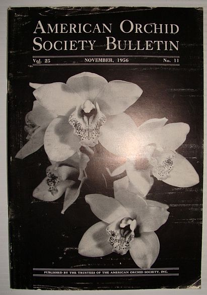 Image for American Orchid Society Bulletin Vol. 25 November, 1956 No. 11