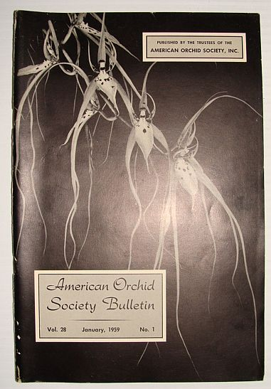 Image for American Orchid Society Bulletin Vol. 28 January, 1959 No. 1