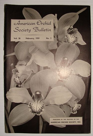 Image for American Orchid Society Bulletin Vol. 28 February, 1959 No. 2