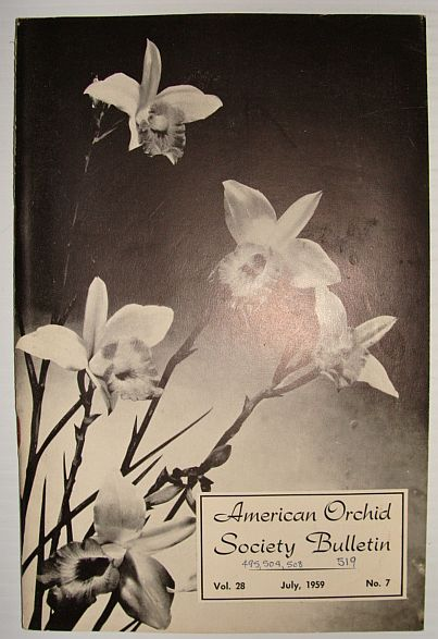 Image for American Orchid Society Bulletin Vol. 28 July, 1959 No. 7