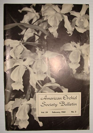 Image for American Orchid Society Bulletin Vol. 29 February, 1960 No. 2