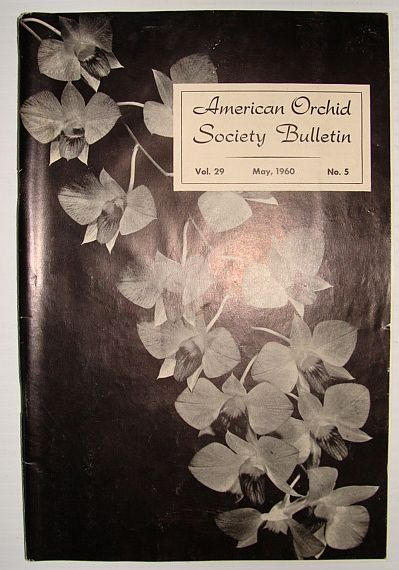 Image for American Orchid Society Bulletin Vol. 29 May, 1960 No. 5