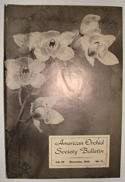 Image for American Orchid Society Bulletin Vol. 29 November, 1960 No. 11