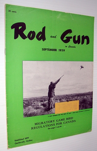 Image for Rod & Gun in Canada Magazine, September 1959 - Migratory Game Bird Regulations For Canada