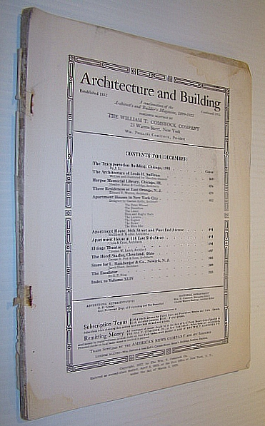 Image for Architecture and Building Magazine, December 1912, Volume XLIV, No. 12 - A Magazine Devoted to Contemporary Architectural Construction
