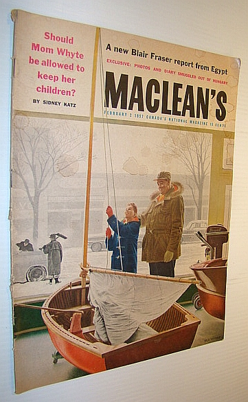 Image for Maclean's, Canada's National Magazine, February 2, 1957: Will They Solve the Riddle of the Athabaska Tar Sands? / Hungarian Revolution