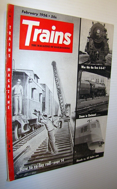 Image for Trains - The Magazine of Railroading, February 1956