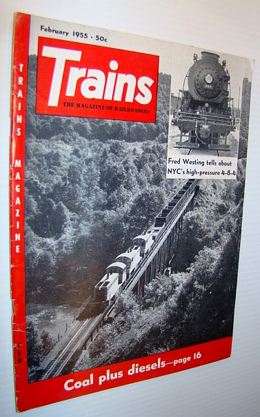 Image for Trains - The Magazine of Railroading, February 1955