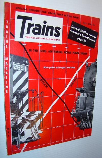 Image for Trains - The Magazine of Railroading, May 1954 - Survey of America's Fastest Trains