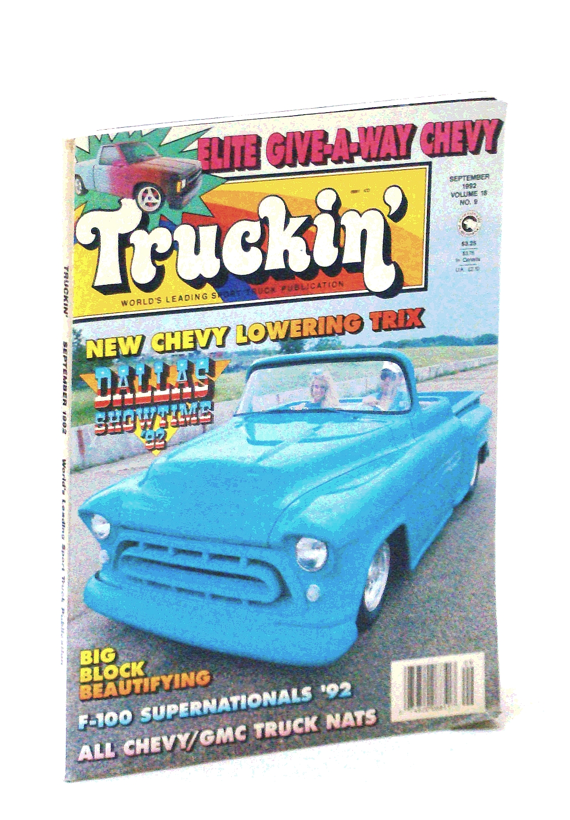 Image for Truckin' Magazine, September [Sept.] 1992: Cover Photo of Michael Grove's '57 Chevy
