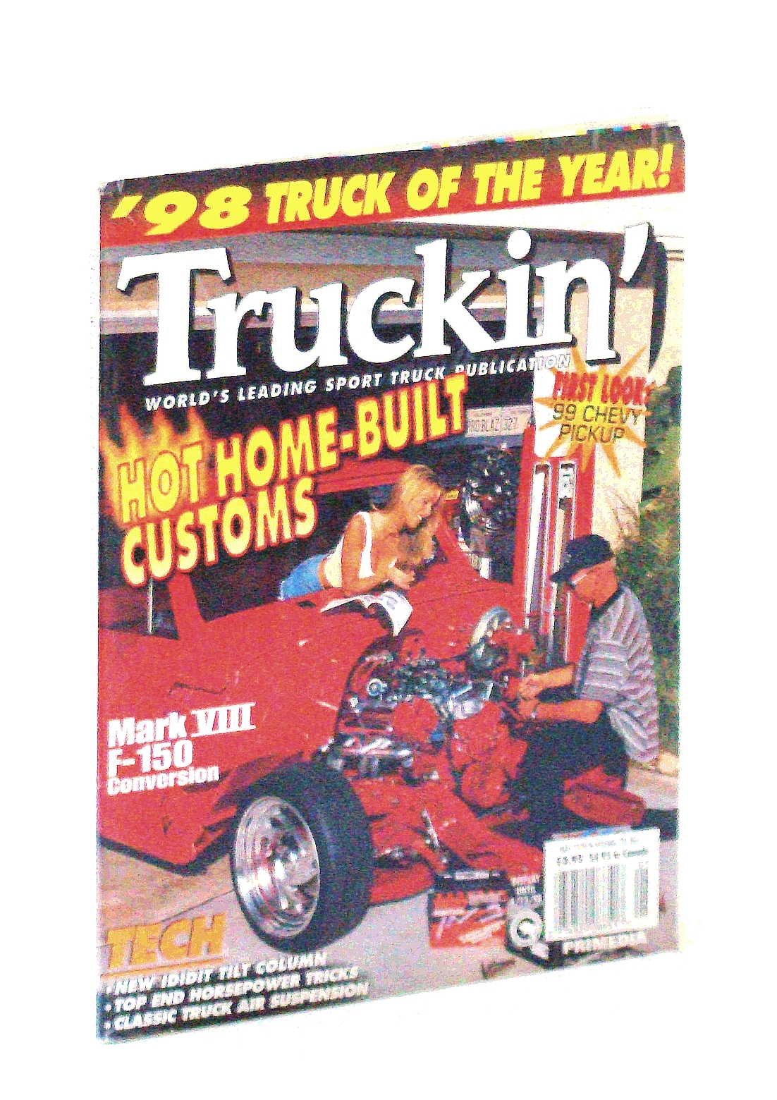 Image for Truckin' Magazine, May 1998: Cover Photo of Brian McCormick and Tiffany Richardson