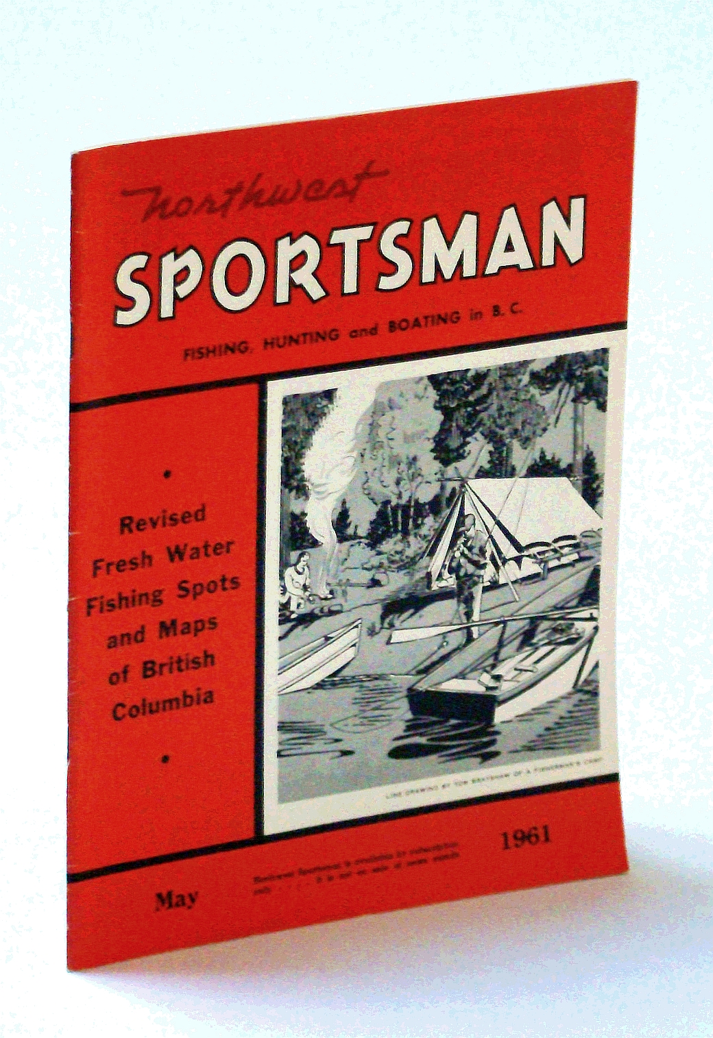 Image for Northwest Sportsman Magazine - Fishing, Hunting and Boating in B.C., May 1961 - Revised Fresh Water Fishing Spots and Maps of British Columbia