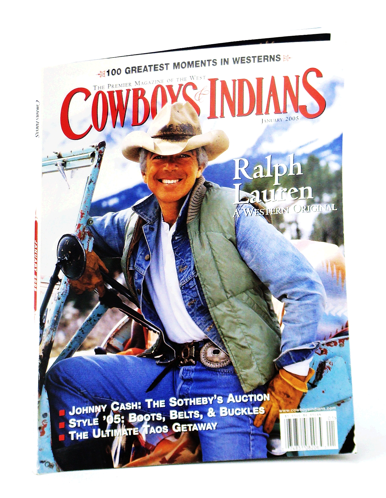 Image for Cowboys and Indians - The Premier Magazine of the West, January [Jan.] 2005 - Ralph Lauren Cover Photo