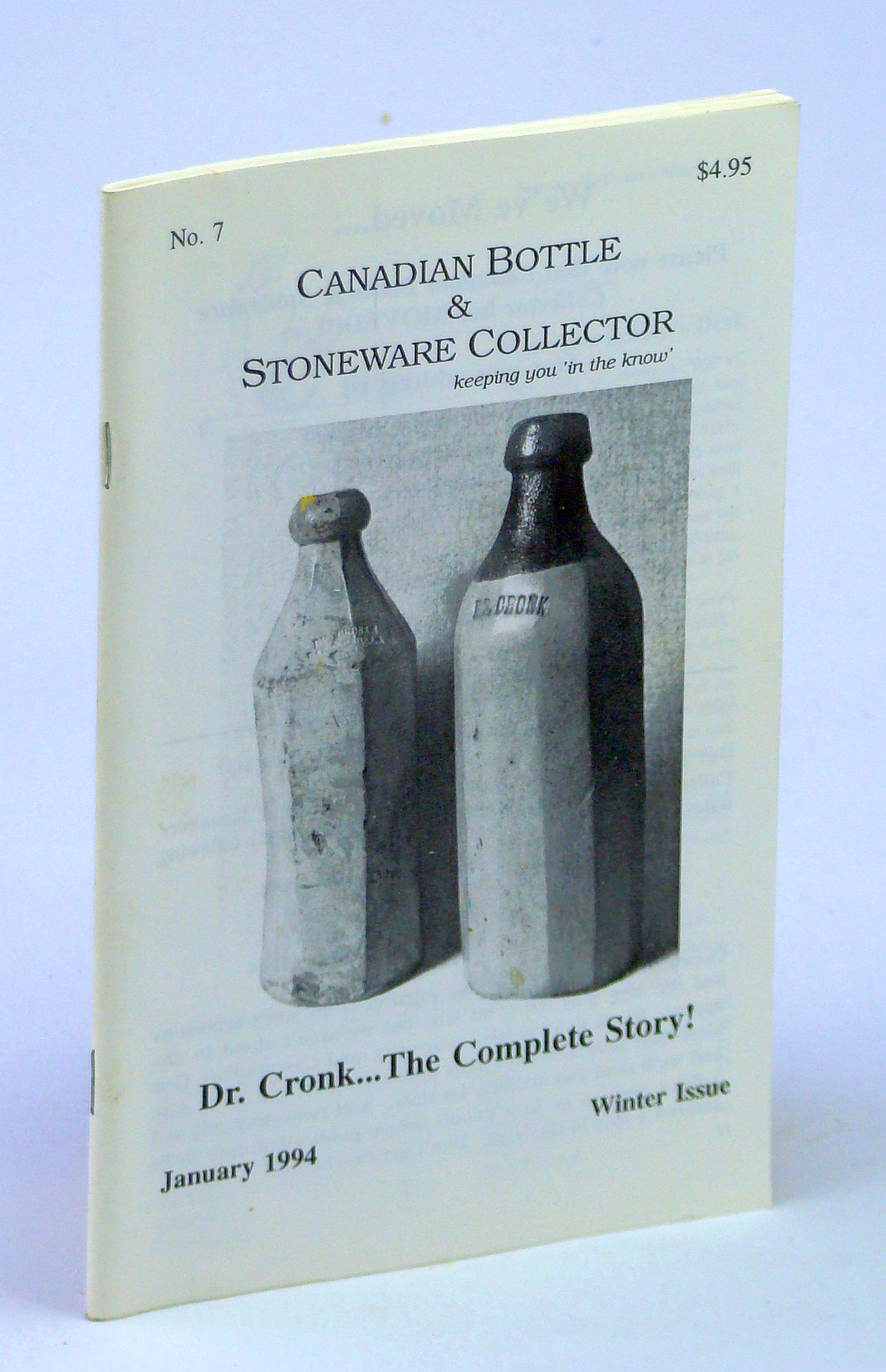 Image for Canadian Bottle & Stoneware Collector, No. 7, January [Jan.] 1994 - Winter Issue