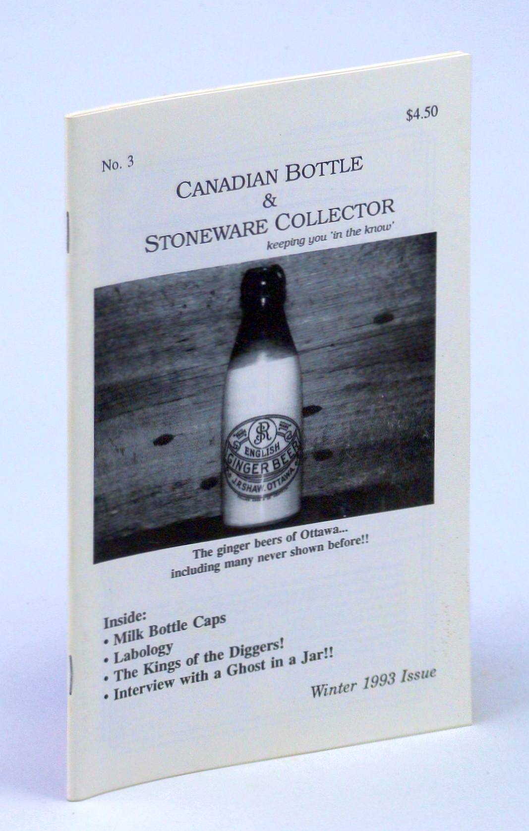 Image for Canadian Bottle & Stoneware Collector, No. 3, January / February / March Winter 1993