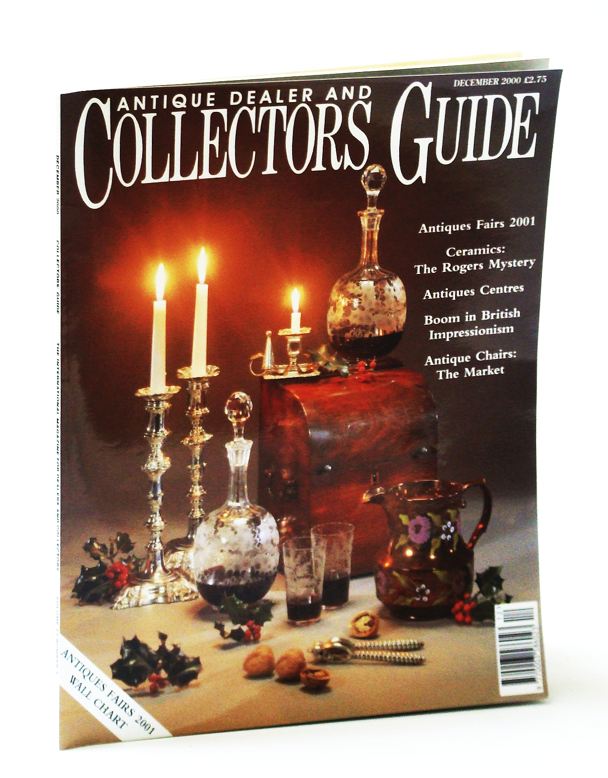 Image for Antique Dealer and Collectors Guide Magazine, December (Dec.) 2000 - The Worcester Porcelain Mystery of James Rogers / I Rogers