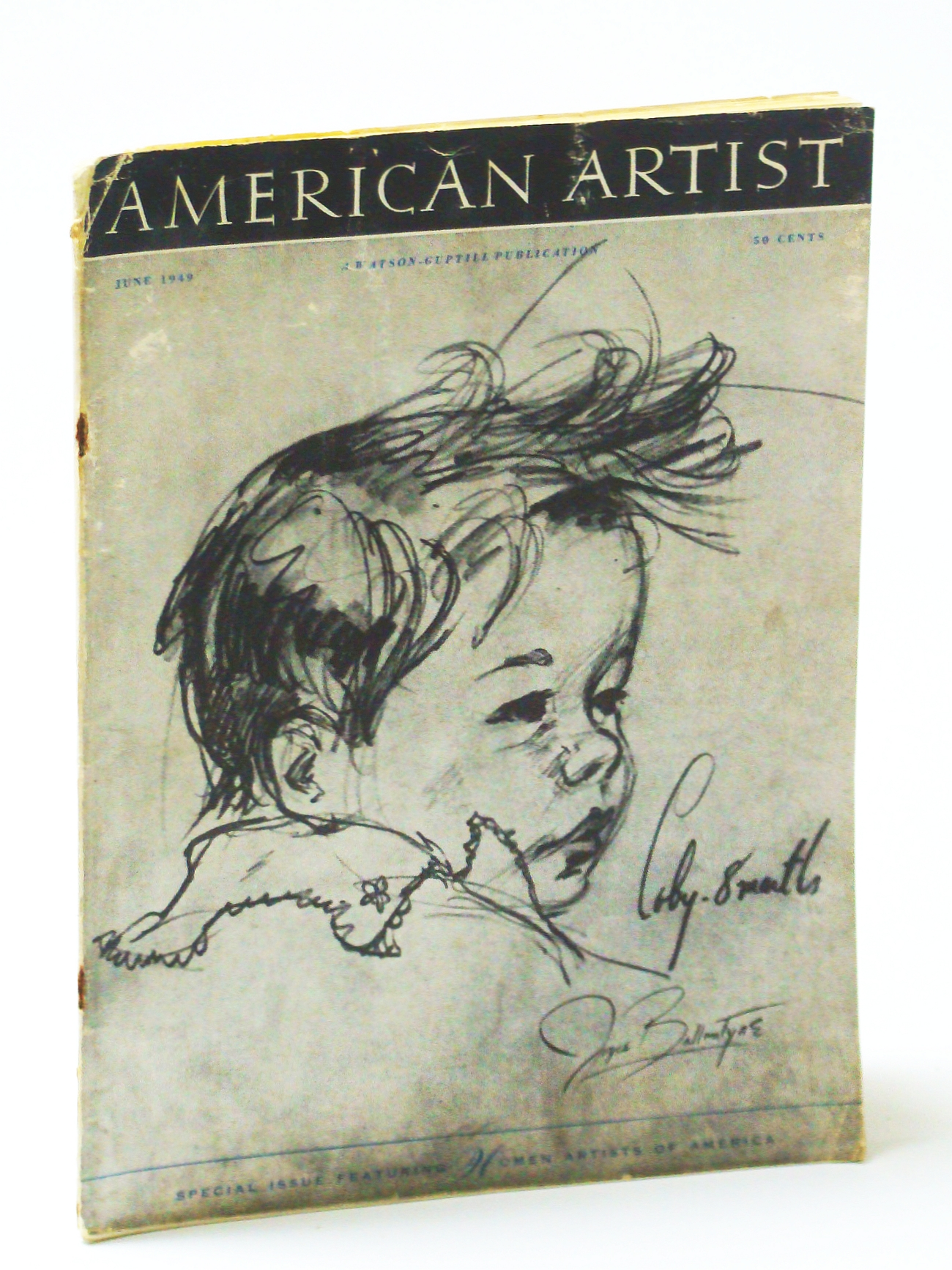Image for American Artist Magazine, June 1949 - Jesse Arms Botke / Mabel Dwight / Bill Chessman