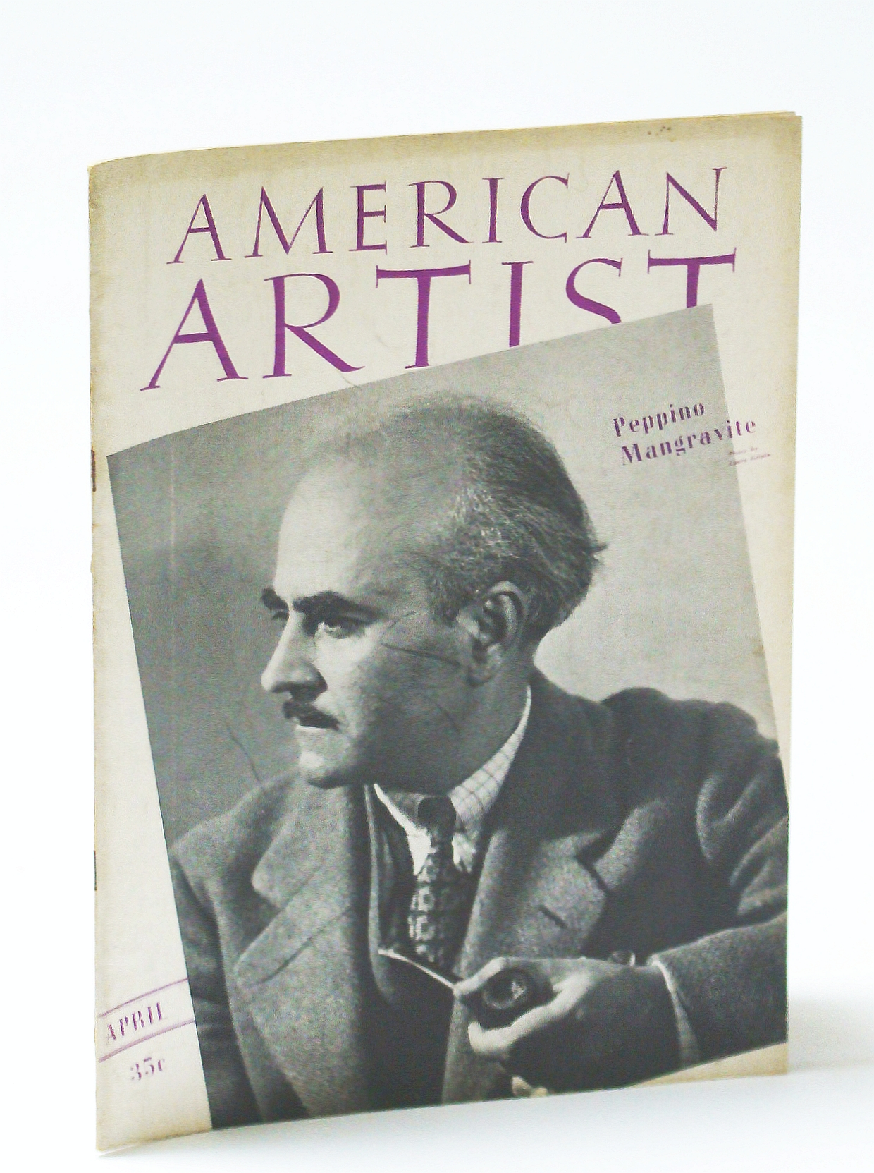 Image for American Artist Magazine, April (Apr.) 1941 - Peppino Mangravite Cover Photo