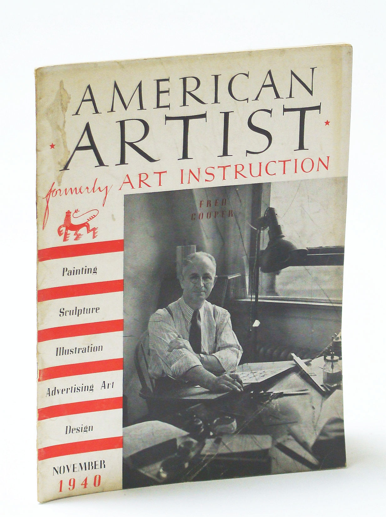 Image for American Artist Magazine, November (Nov.) 1940 - Fred Cooper Cover Photo