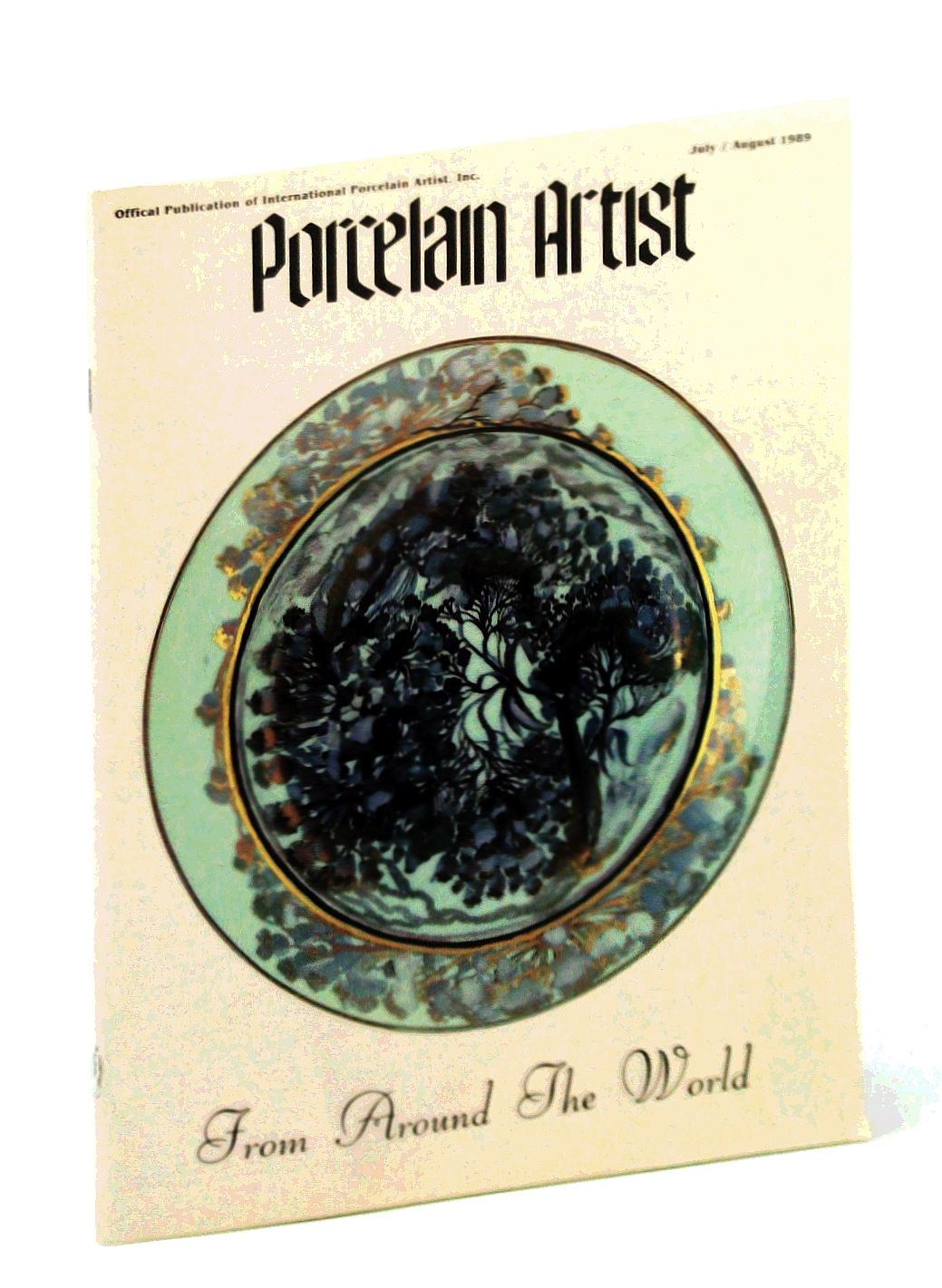 Image for Porcelain Artist [Magazine] July / August [Aug.] 1989: Violets - A Piece of Cake