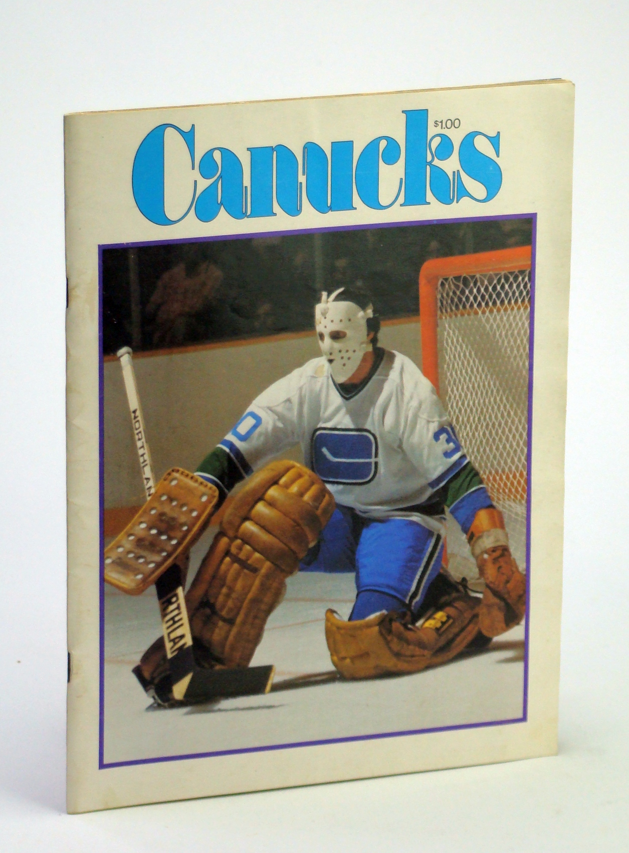 Image for Canucks - Vancouver Canuck Magazine, October 28, 1976, Vol. 7, No. 3 - Cover Photo of Cesare Maniago
