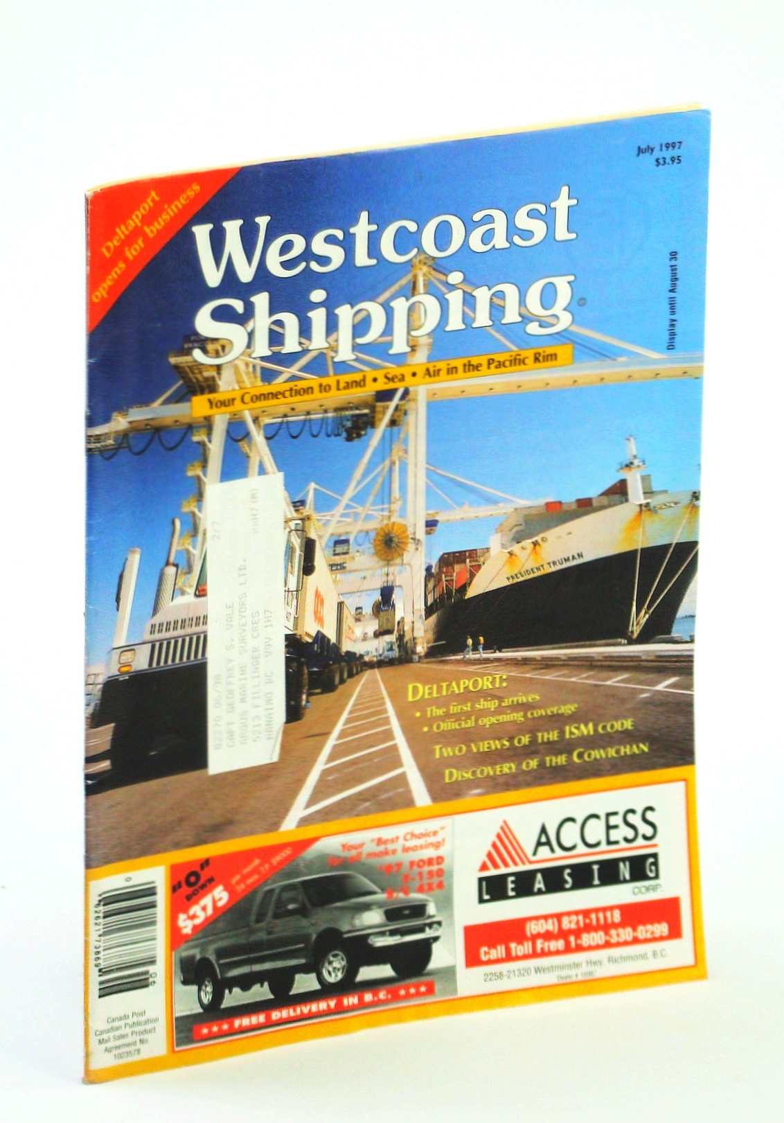 Image for Westcoast Shipping [Magazine] - Your Connection to Land, Sea, Air in the Pacific Rim, July 1997