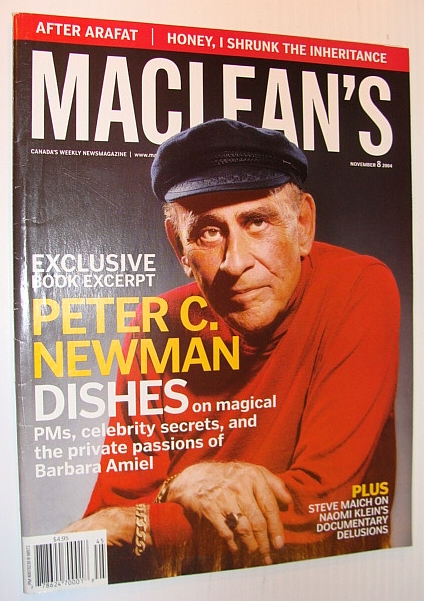 Image for Maclean's Magazine, 8 November 2004 - Peter C. Newman Cover