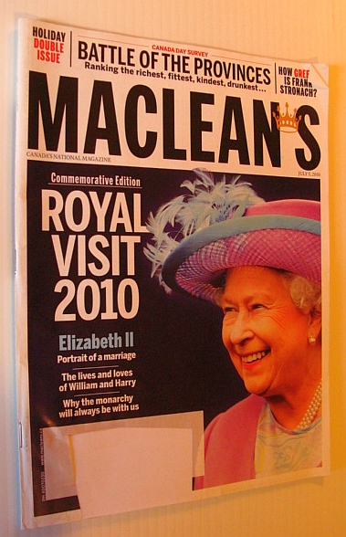 Image for Maclean's Magazine, 5 July 2010 - Royal Visit 2010