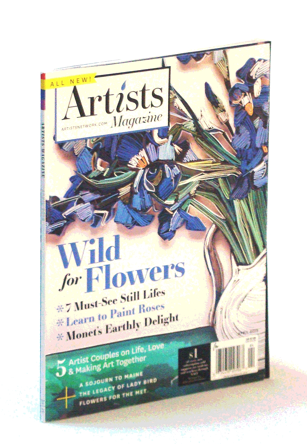 Image for Artists Magazine, April [Apr.] 2018 - Wild for Flowers