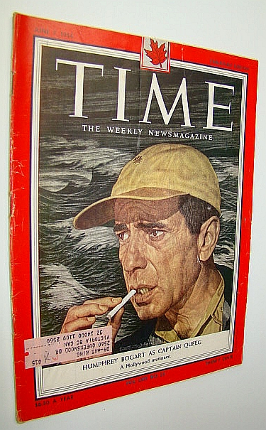 Image for Time Magazine, June 7, 1954 - Humphrey Bogart as Captain Queeg Cover Illustration