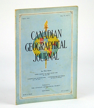 Image for Canadian Geographical Journal, May 1933, Vol VI, No. 5 - Great Bear Lake