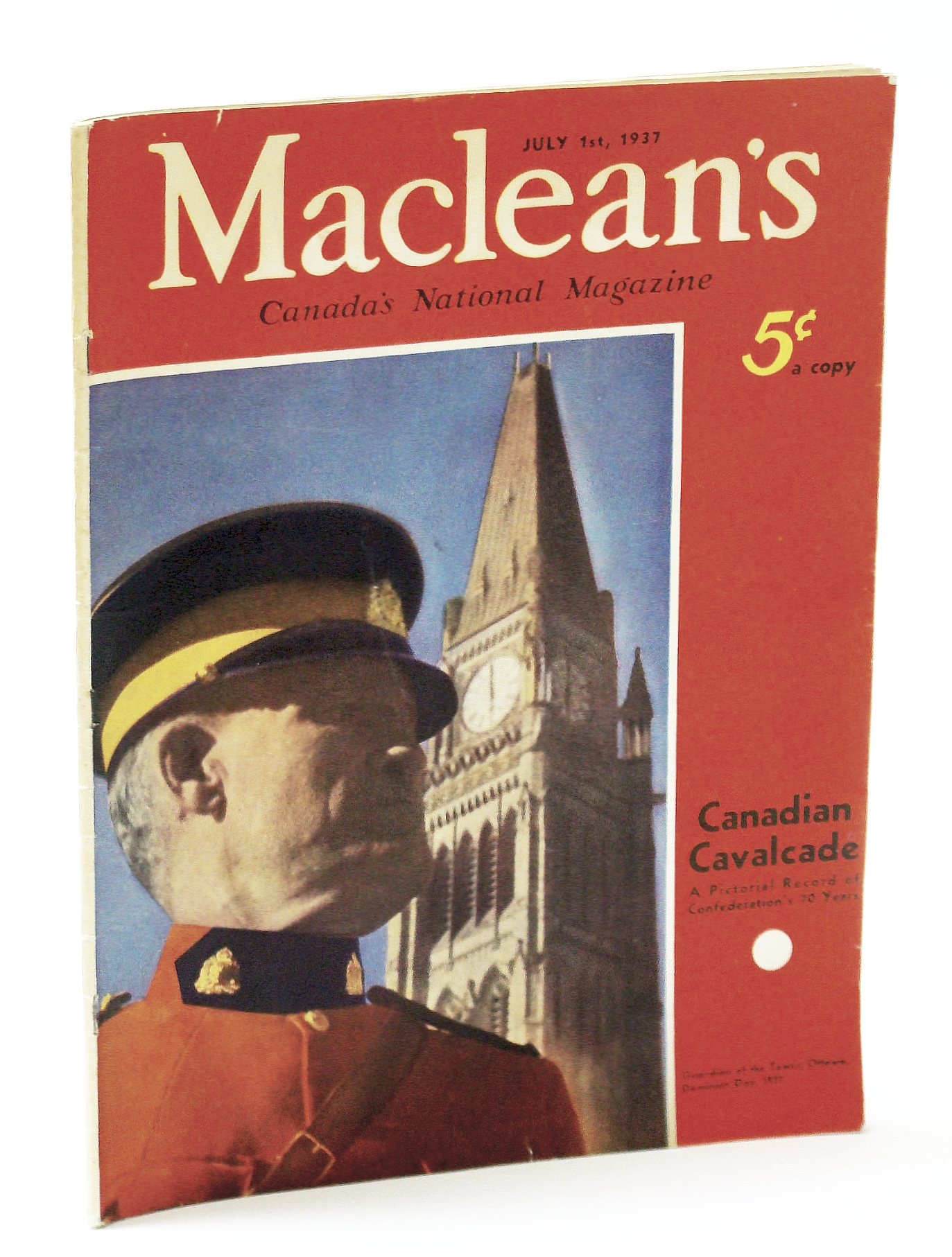 Image for Maclean's Magazine July 1, 1937 *Canadian Cavalcade: A Pictorial Record of Confederation's 70 Years*