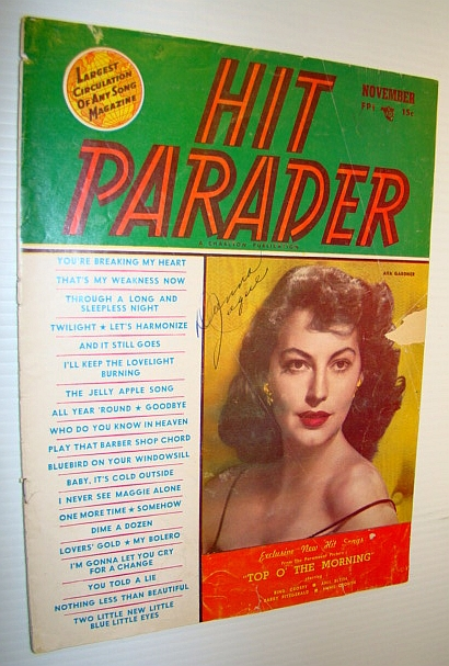 Image for Hit Parader Magazine, November 1949 Vol. VII No. 12