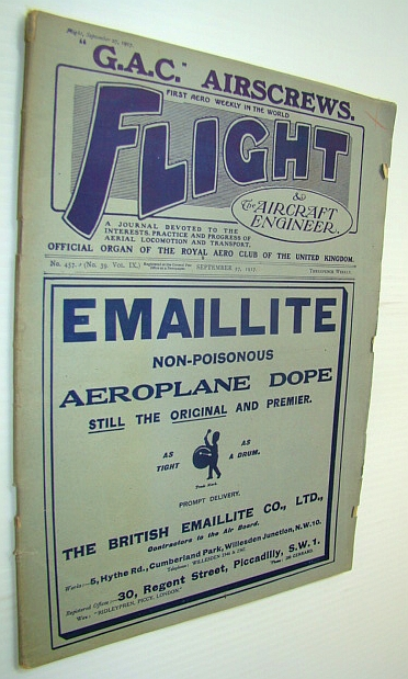 Image for Flight (Magazine) And The Aircraft Engineer, September 27, 1917