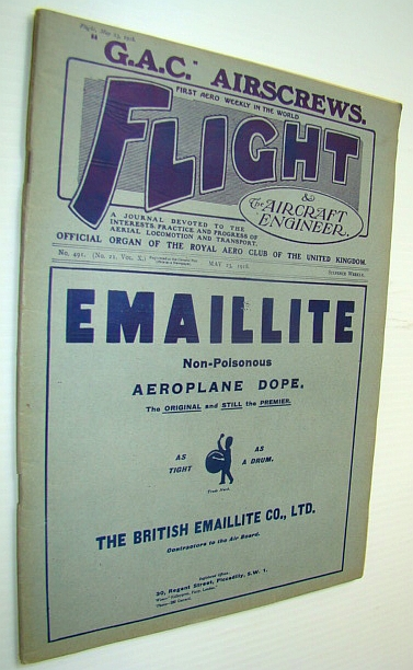 Image for Flight (Magazine) And The Aircraft Engineer, May 23, 1918