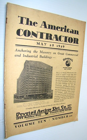 Image for The American Contractor Magazine, May 25, 1929